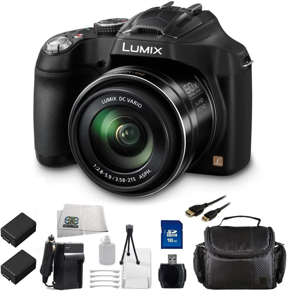 Panasonic LUMIX DMC-FZ70 16.1 MP Digital Camera with 60x Optical Image Stabilized Zoom and 3-Inch LCD Black