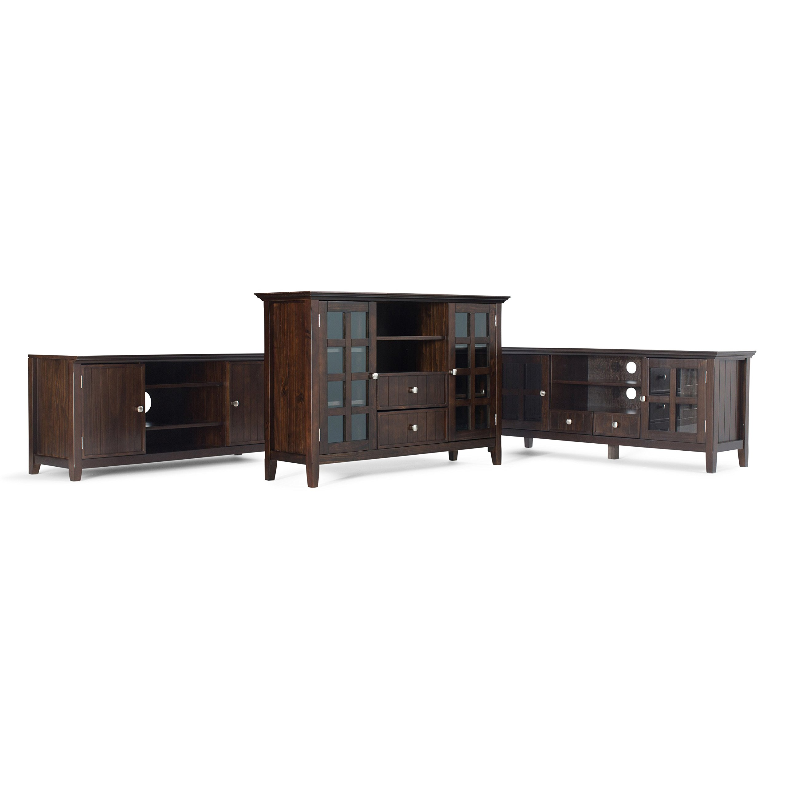 Simpli Home Acadian Solid Wood TV Media Stand for TVs up to 60'', Rich Tobacco Brown by Simpli Home (Image #6)