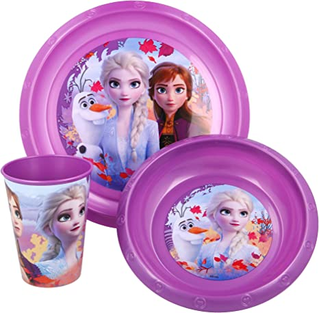 SET EASY 3 PCS. (PLATO, CUENCO Y VASO 260 ML) EN ESTUCHE FROZEN 2: Amazon.es: Bebé