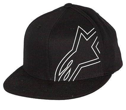 Alpinestars Negro Flexfit Flatbill Cap ~ Freno: Amazon.es: Ropa y accesorios