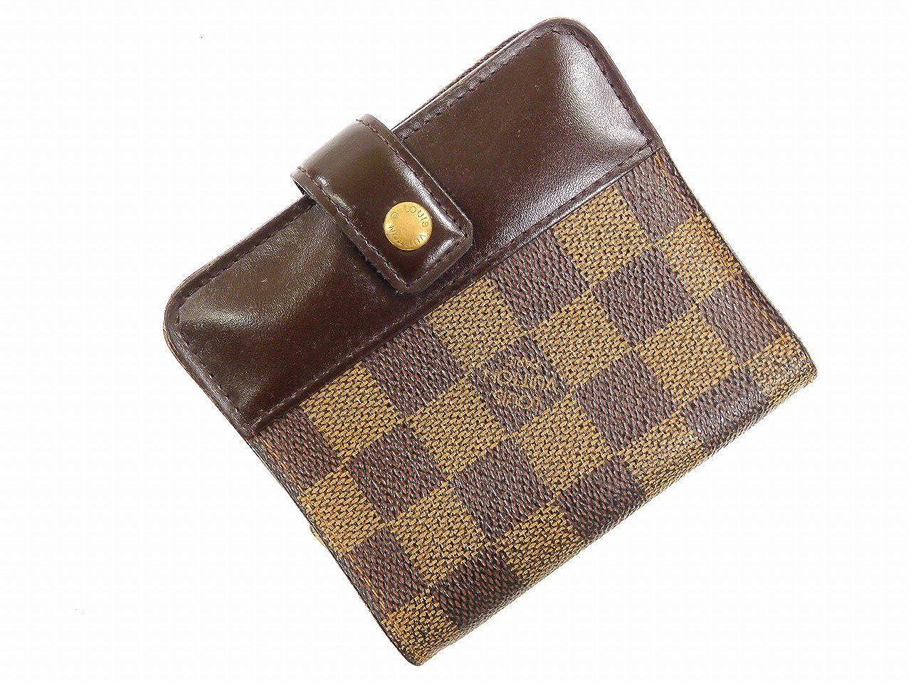 [ルイヴィトン] LOUIS VUITTON 二つ折り財布 ダミエ PVC×レザー X16368 中古   B0779MS1FZ