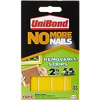 Unibond 781739 No More Nails plakstrips ultra sterk aftrekbaar doorschijnend 10 stuks