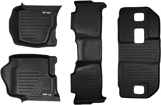 Amazon Com Maxliner Floor Mats 3 Row Liner Set Black For 2007