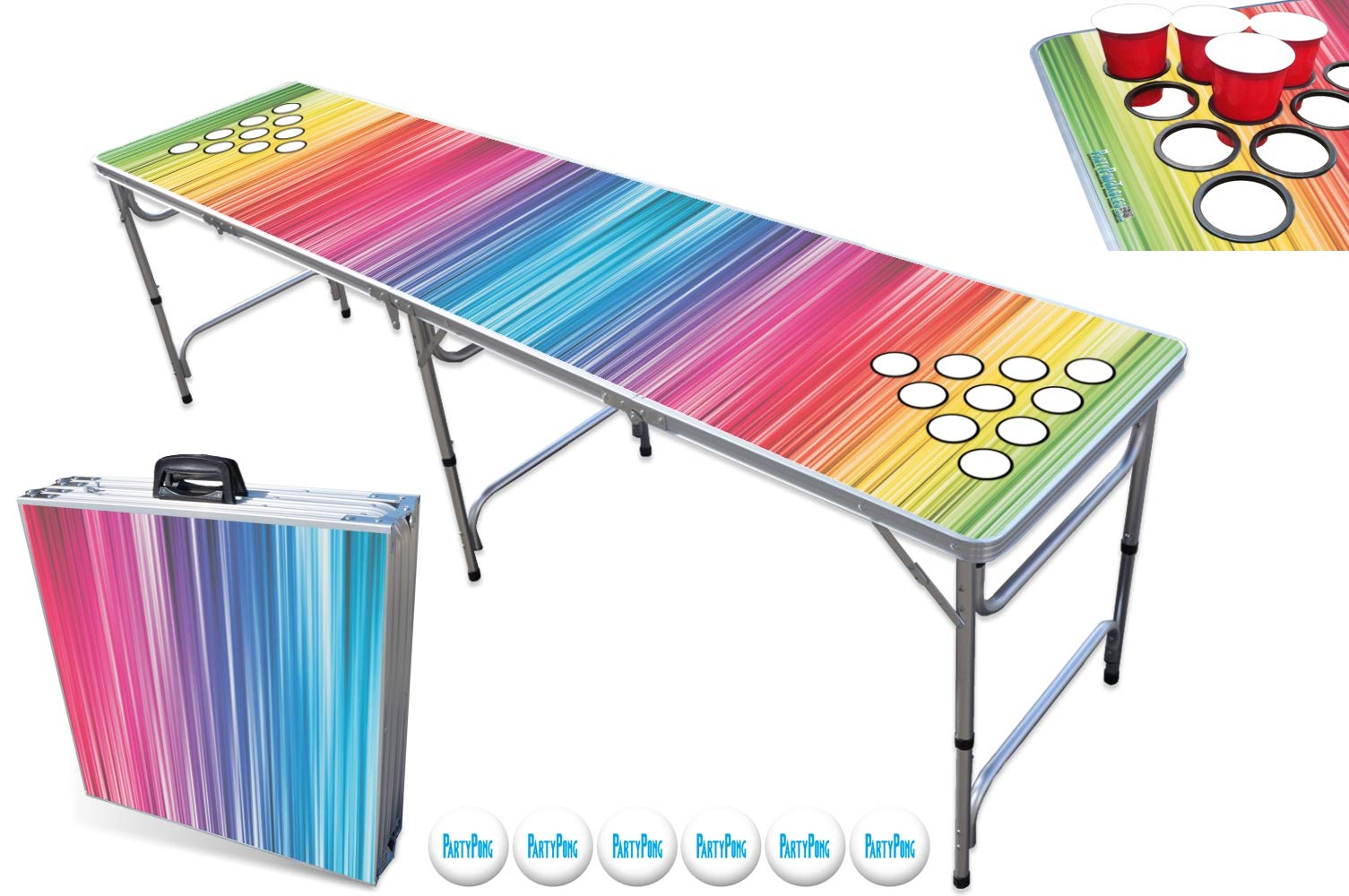 PartyPongTables PPT-082220187 Color Spectrum with Cup Holes by PartyPongTables
