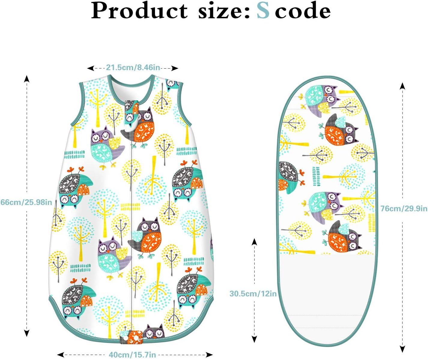 0.5 Tog Besrina Baby Sleeping Bag Cotton Breathable Swaddle Wrap Blanket Nursery Wearable Blanket Swaddle for Newborn Infant Toddler Boys Girls 0-12 Months