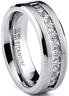 Black titanium wedding bands prices