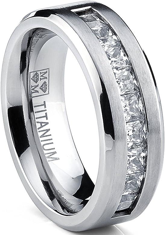 Ultimate Metals® Anillo de Matrimonio Titanio Para Hombre ...