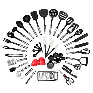 Nexgadget 42 Pieces Lot Ustensiles De Cuisine En Acier Inoxydable Et