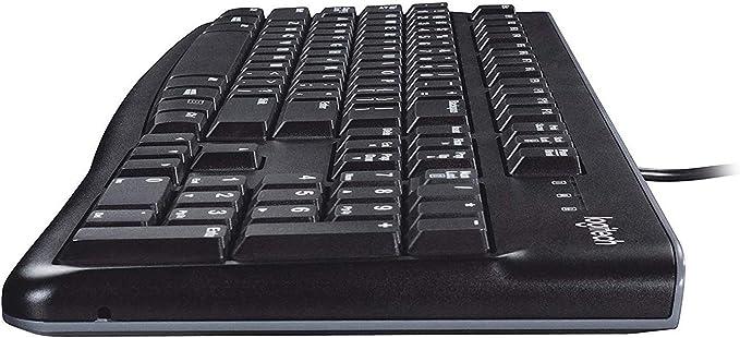Logitech K120 Teclado con Cable para Windows, Disposición QWERTY Italiano, Negro