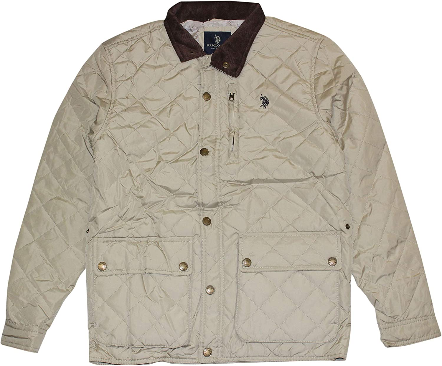 Polo Assn Mens Diamond-Quilted Jacket U.S