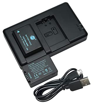 DSTE 2PCS DMW-BMB9(1500mAh/7.4V) Batería Cargador Compatible para Panasonic Lumix DMC-FZ40,DMC-FZ45,DMC-FZ47,DMC-FZ48,DMC-FZ60,DMC-FZ62, ...