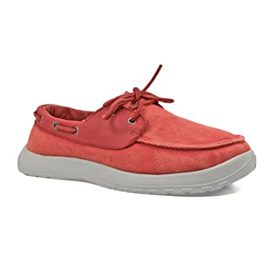 SoftScience Men's Cruise Canvas, Color: Red, Size: 10 (MC0050RED-10): Clothing