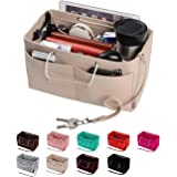Purse Organizer, Multi-Pocket Felt Handbag Organizer, Purse Insert Organizer with Handles, Medium, Large