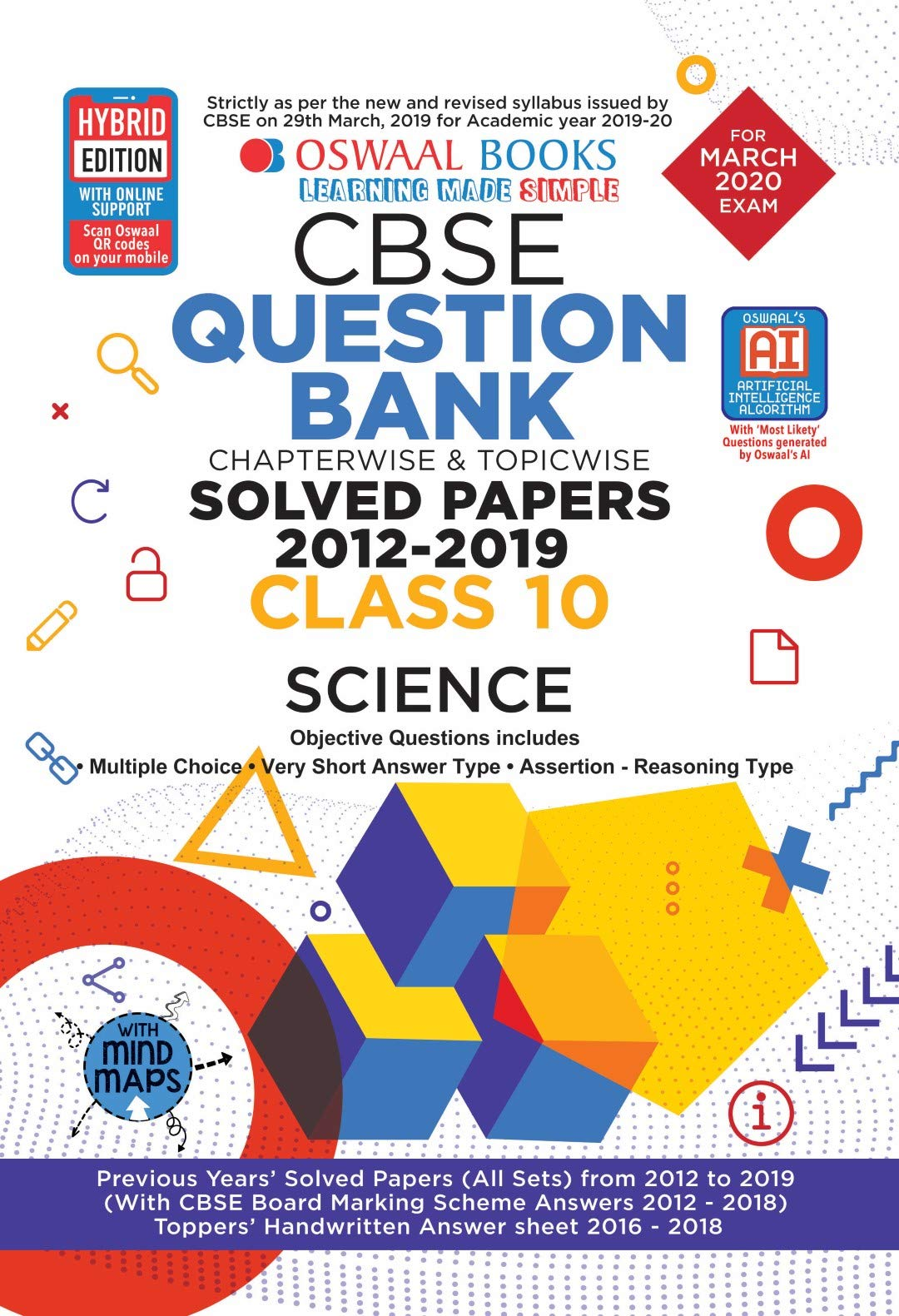 Oswaal CBSE Question Bank Class 10 Science Book Chapterwise