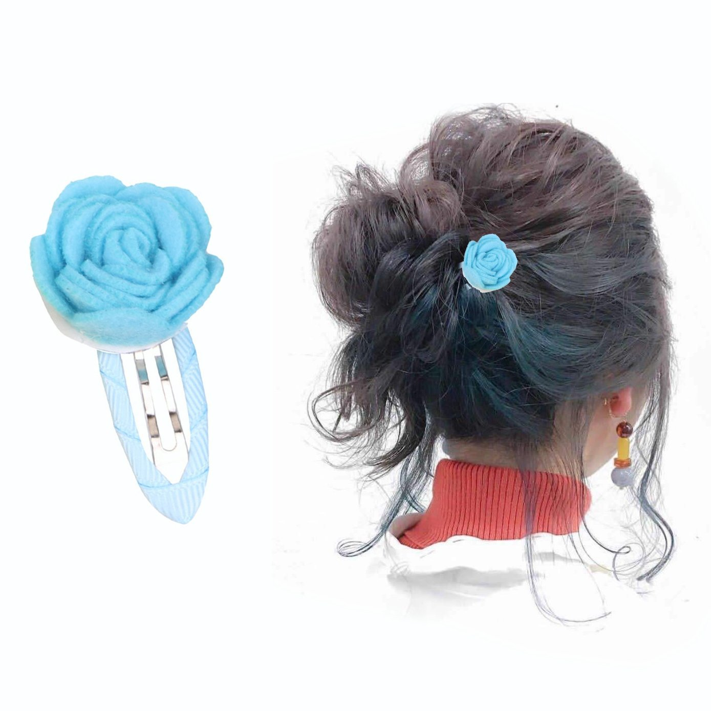 OFKPO 13PCS Rose Hair Clips Barrettes for Baby Toddler Child Girls