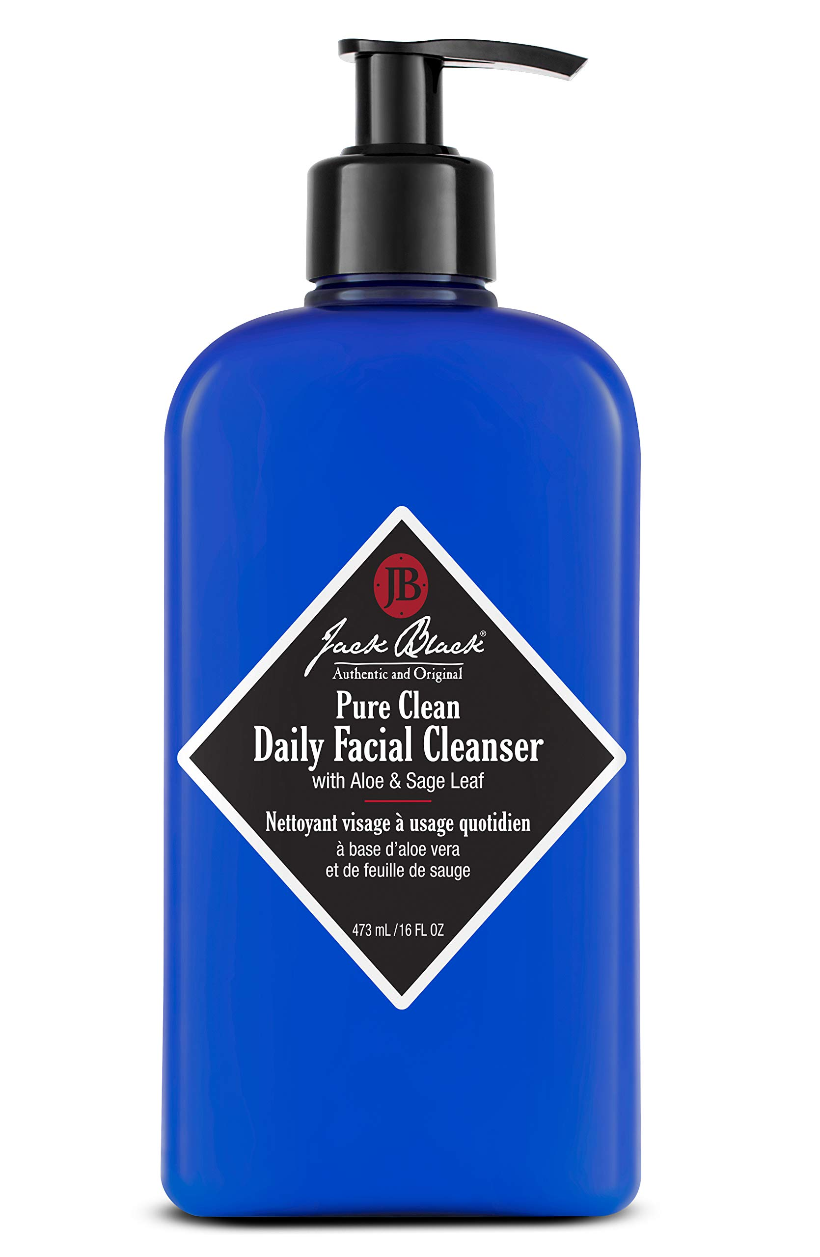 Jack Black - Pure Clean Daily Facial Cleanser, 3, 6 and 16 fl oz - 2-in-1 Facial Cleanser and Toner, Removes Dirt and Oil, PureScience Formula, Certified Organic Ingredients, Aloe and Sage Leaf by Jack Black