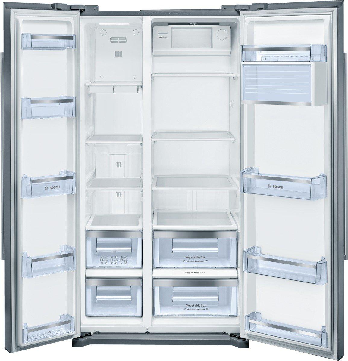 Bosch KAN90VI20 Frigo-Congelatore (Libera installazione, Porta americana, A+, SN, N, ST, T), Acciaio inossidabile