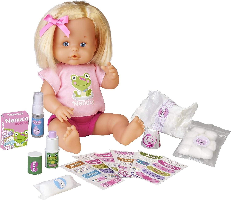 Nenuco-Cura Sana, Muñeca para Jugar a medicos con Accesorios, Regalo Ideal para niñas y niños a Partir de 2 años(Famosa 700016256)