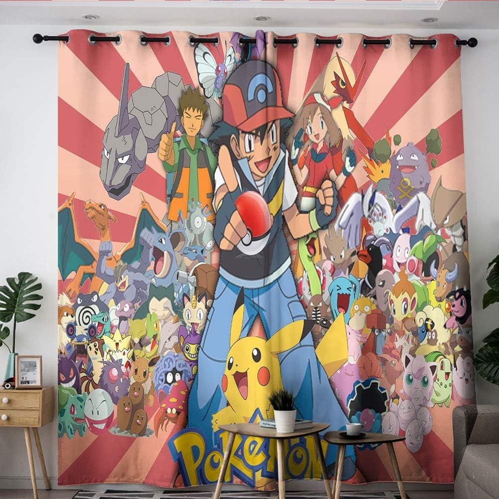 Elliot Dorothy Poke-mon Pika chu Cartoon Cortinas decorativas personalizadas Chid Cortinas oscurecimiento habitación cortinas anchas para dormitorio, sala de estar cocina W42 x L54
