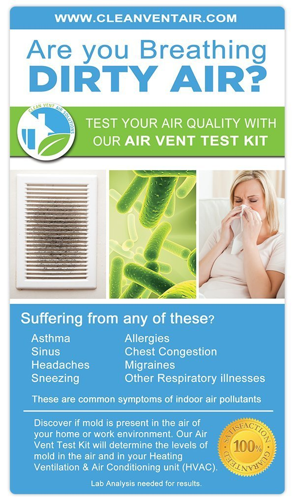 amazoncom clean vent air solutions air test kit for mold home u0026 kitchen