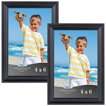 Amazon.com - Icona Bay 4x6 Black Picture Frames (4 x 6, 2-Pack ...