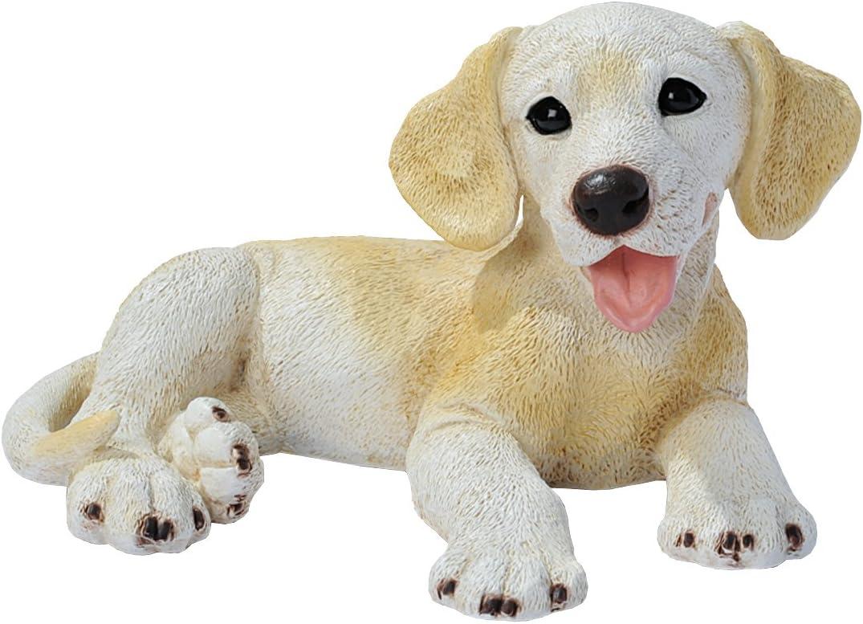 Design Toscano Yellow Labrador Puppy Dog Statue, Multicolored