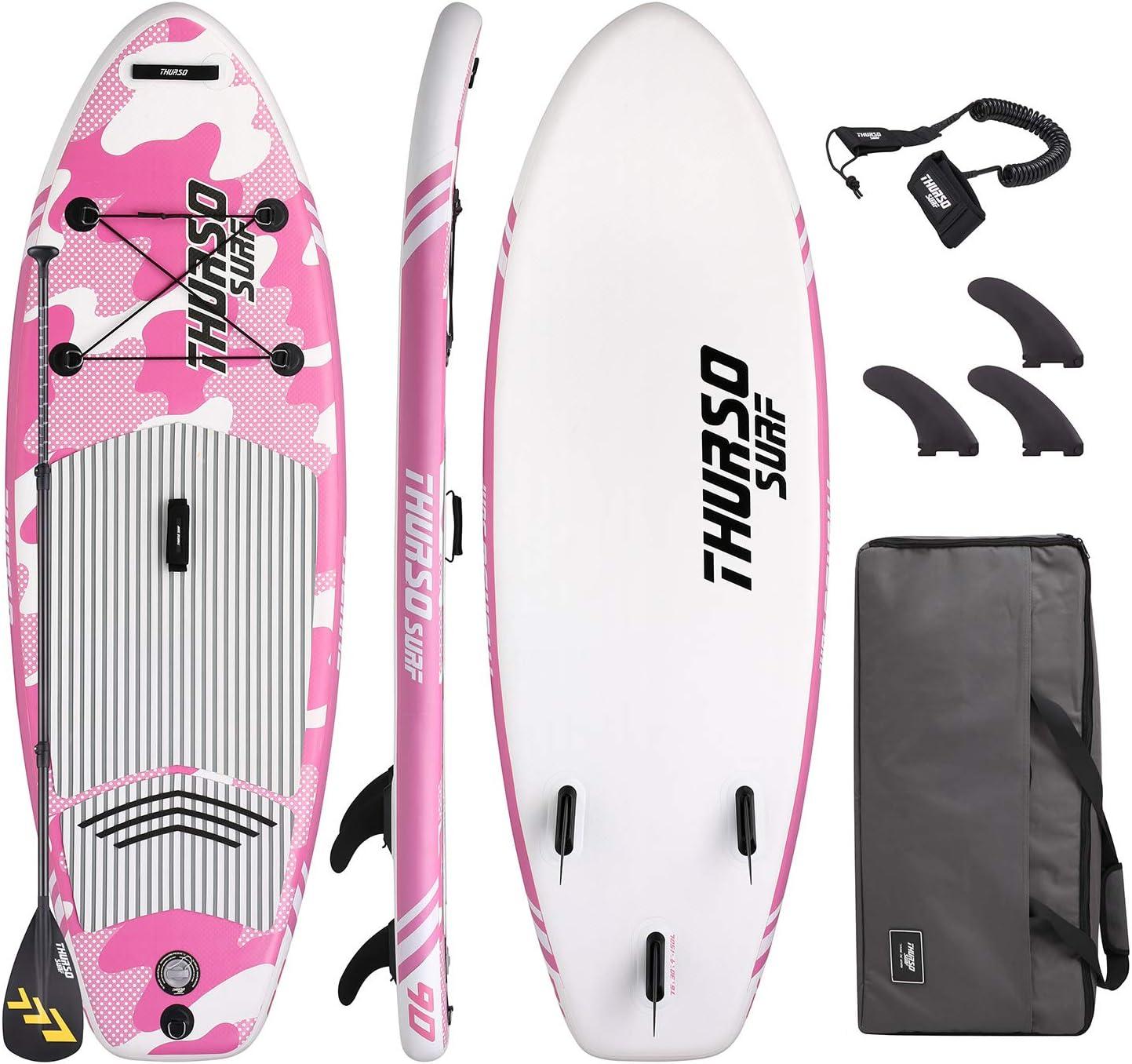 pink girls paddle board