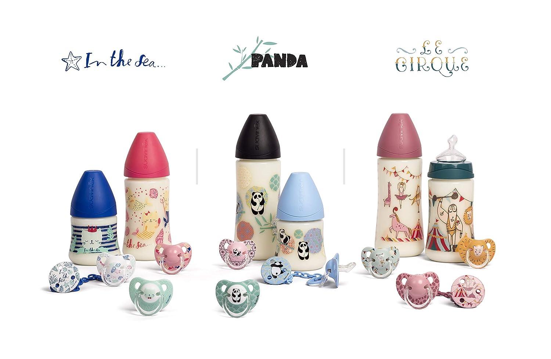 Suavinex Panda 153792 Broche Pinza Redondo, 0 meses+, Multicolor
