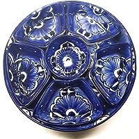 Botanero redondo artesanal de Talvera color Azul Cobalto