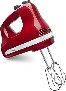 KitchenAid 5-Speed Ultra Power Hand Mixer   Empire Red (Renewed)