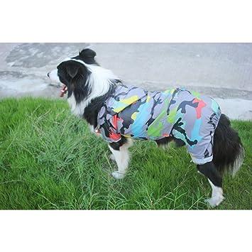 Ropa para perros ropa Impermeable grande para perros Ropa de suéter dorado Perro grande Cuatro piernas