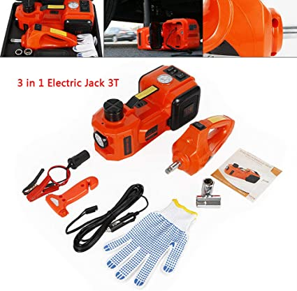 OUKANING 3T Electric Car Jack DC 12V Hydraulic Jack Lift