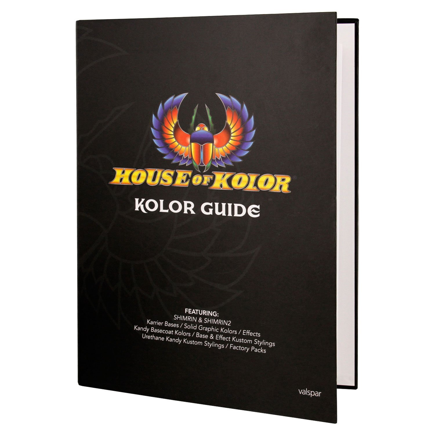House of Kolor Color Chip Sample Hardcover Guide featuring Shimrin and Shimrin2