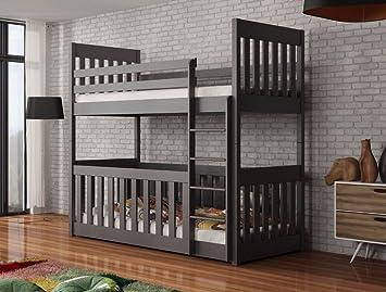 Arthauss Moderner Neu Kids Kinder Holz Massiv Kiefer Bunk Bett Mit