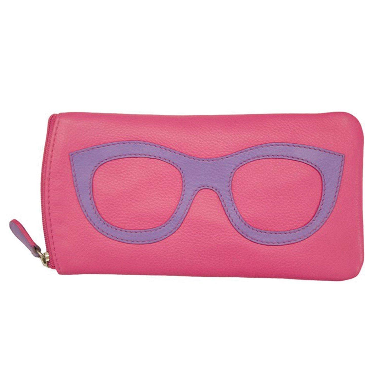 ili New York 6462 Leather Eyeglass Case (Hot Pink/Amethyst)