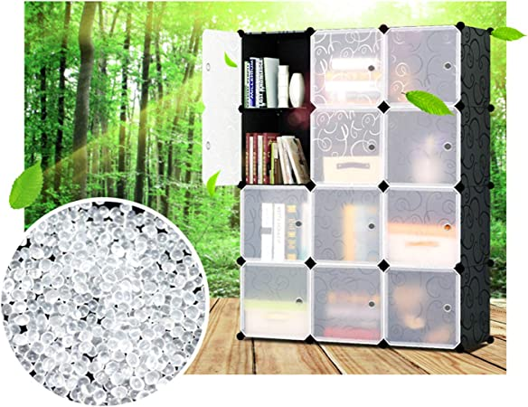 Ideal Organizador de Almacenamiento Cubo para Libros 12 Cubos Glamexx24 Armario port/átil para Colgar la Ropa Armario Combinado Armario Modular para Ahorrar Espacio