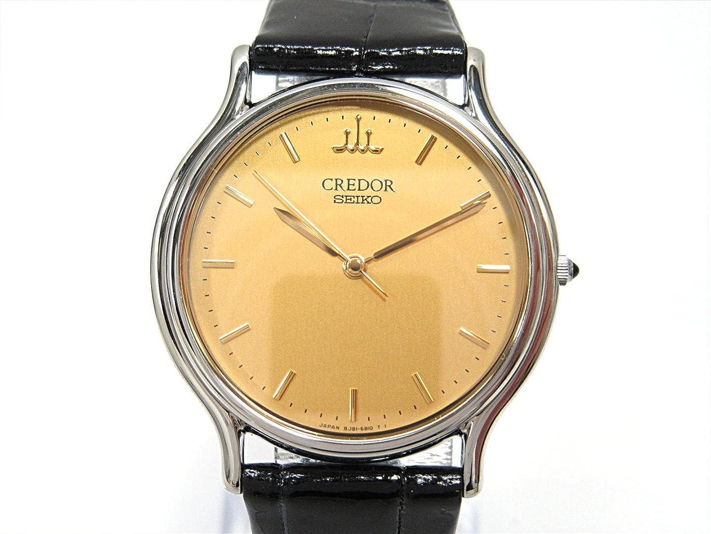 [セイコー] SEIKO クレドール シグノ 腕時計 ウォッチ ゴールド ステンレススチール(SS) xレザーベルト 8J81-6A30 [並行輸入品] レディース B07F9NW376