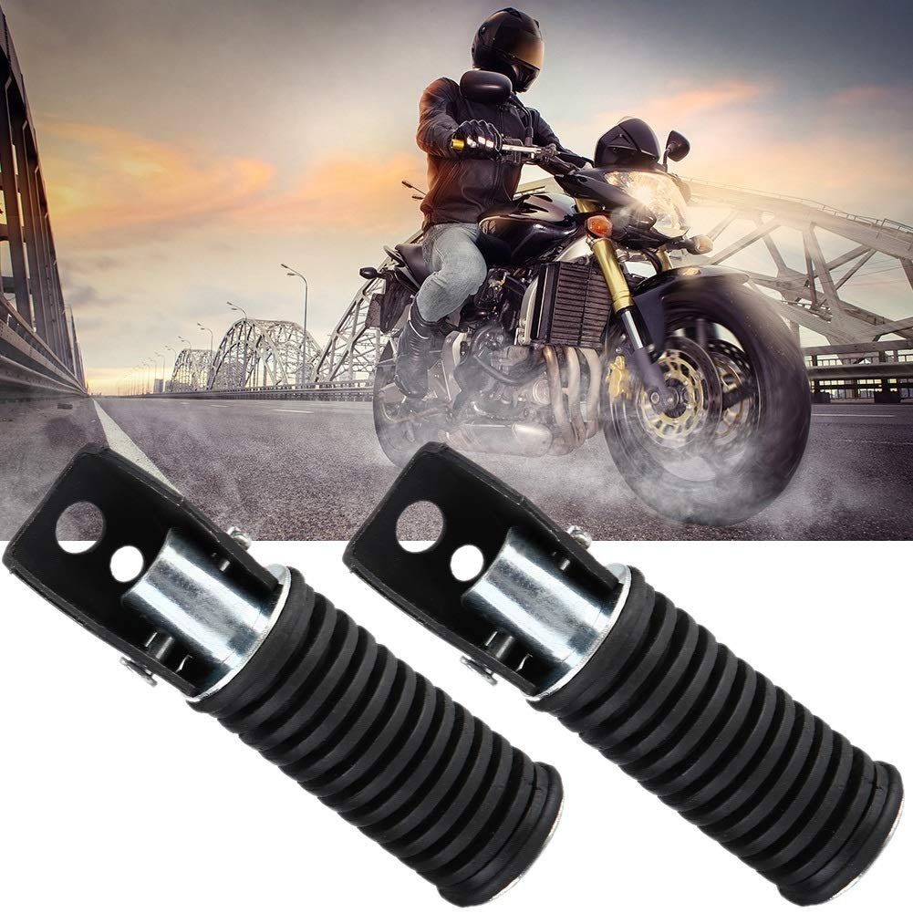 Pair of Motorcycle Rear Passenger Perfect Decorating Foot Pegs Pedal Footrest for Suzuki GN125//QJ25//GS125//GT125-5