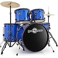Gear4music BDK-1 - Bater?a para principiantes (tama?o completo), color azul