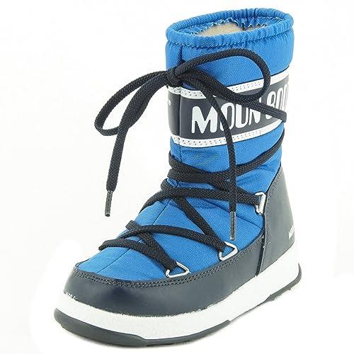 e58a4c166e Moon Boot W.E. Sport Mid Jr, Scarpe Sportive Outdoor Unisex-Bambini, Blu  (Azzurro/Blue Navy), 29 EU: Amazon.it: Scarpe e borse