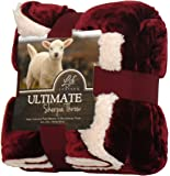 Life Comfort Ultimate Sherpa Throw, Red