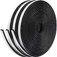 Fowong Zelfklevende Schuimtape Lang Huisraamdeur Tocht Excluder Weerstripafdichting Geluiddichte Schuimpakkingband 6 mm…