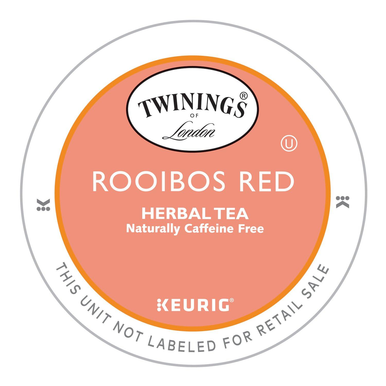 Twinings of London Pure Rooibos Herbal Tea K-Cups for Keurig®, 24 count (Pack of 4) by Twinings