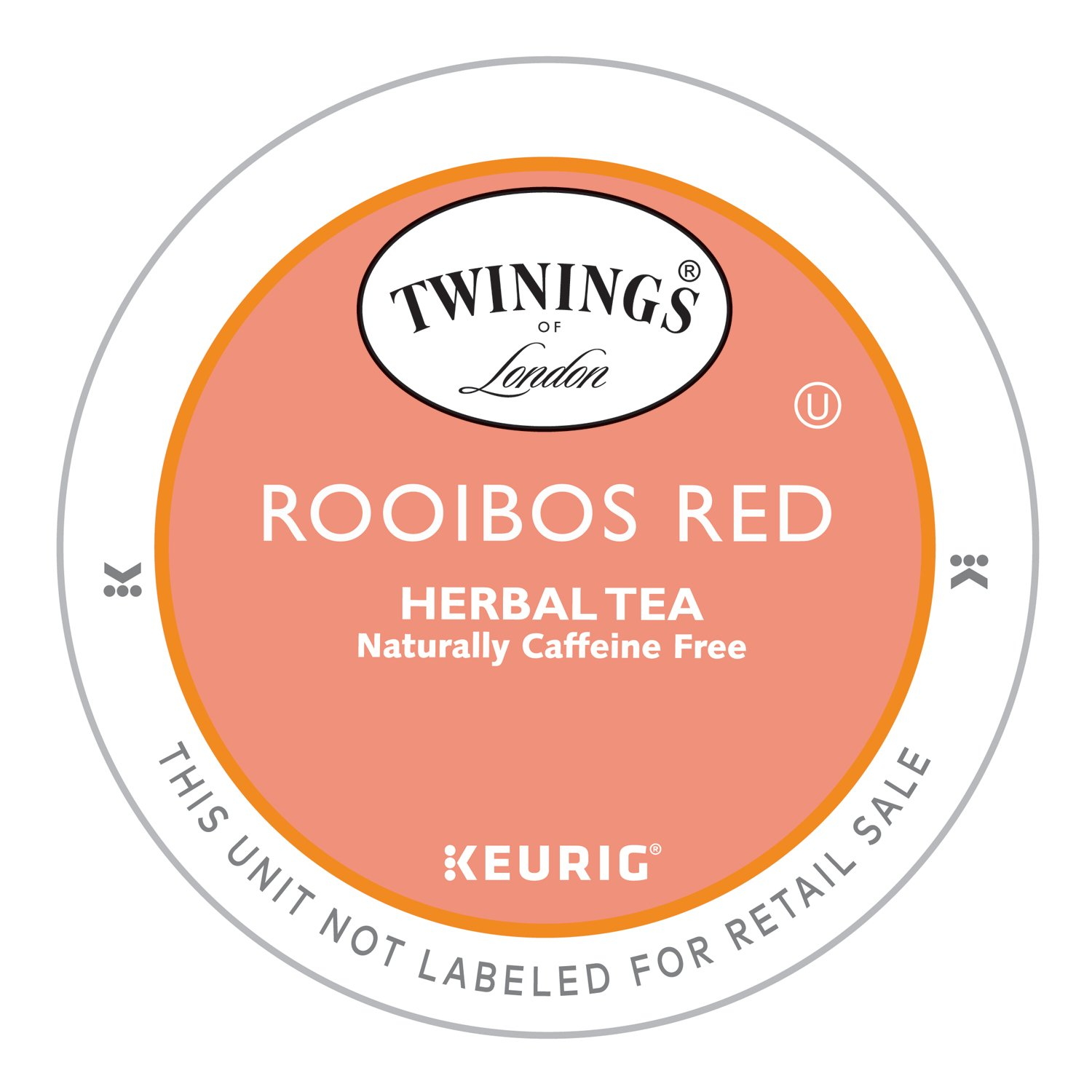 Twinings Pure Rooibos Red Tea, Keurig K-Cups, 24 Count (Pack of 4) by Twinings