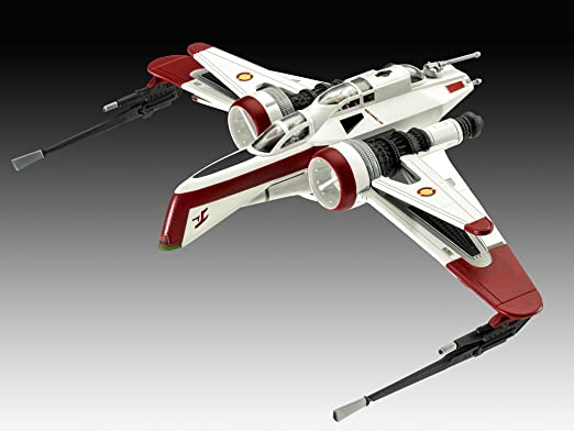 Revell Revell-ARC-170 Star Wars Set ARC-170 Fighter, en Kit Modelo con Base Accesorios, fácil Pegar y para pintarlas, Escala 1:83 (63608), 10,0 cm de Largo: ...