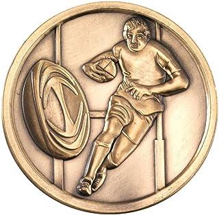 Rugby Médaillon–Doré Antique 2,75en Lot DE 10