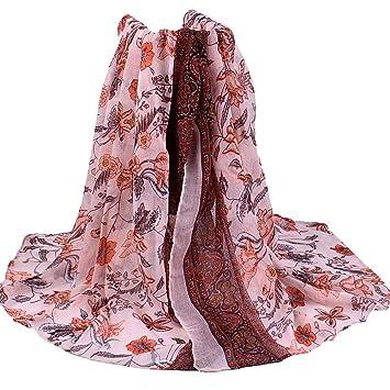 Schal Halstuch Tuch Stola Umhängetuch schwarz pink rosa mit Muster Blumen