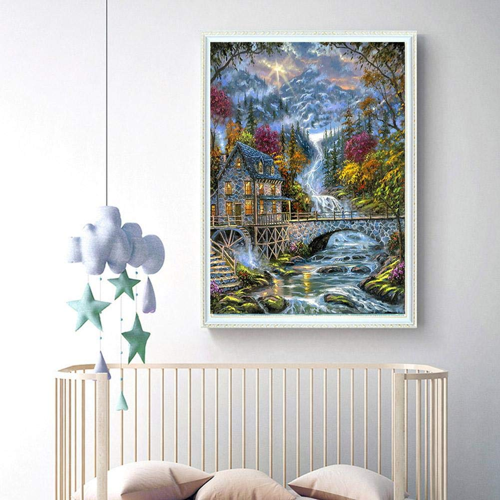 Diamond Painting Paysage DIY Diamond Painting Forage Plein de Diamantsen Diamant DIY 5D Diamant Peinture Belle Fleur D/écoration Murale Peinture D/écoration Salon Chambre