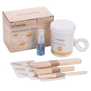 Amazon wowax microwave waxing kit 8 ounce brazilian hot wax wowax microwave waxing kit 8 ounce brazilian hot wax hair removal eyebrow wax kit at solutioingenieria Gallery