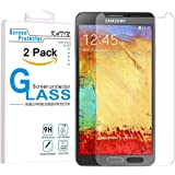 Galaxy Note 3 Screen Protector - KATIN [2-Pack] Samsung Galaxy Note 3 Premium 9H Tempered Glass [ 2.5D Round Edge 3D Touch Compatible ] with Lifetime Replacement Warranty